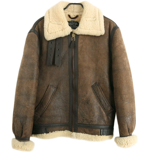[빈티지] SCHOTT B-3 MUSTANG FLIGHT JACKET USA 쇼트 B-3 무스탕 (95) 루스, ROOS